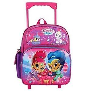 """Nickelodeon Shimmer Shine Toddler 12"""" Rolling Bag"""